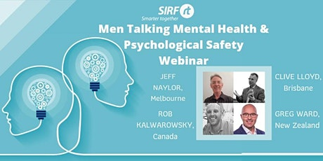 Webinar Panel - Men talking Mental Health & Psychological Safety tickets