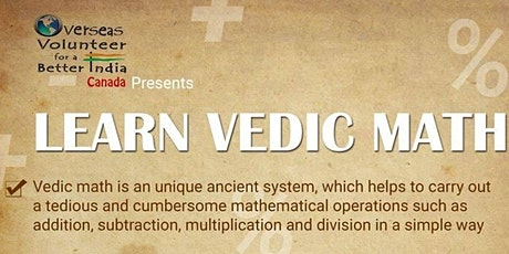 Introduction to Vedic Math - Level 1 tickets