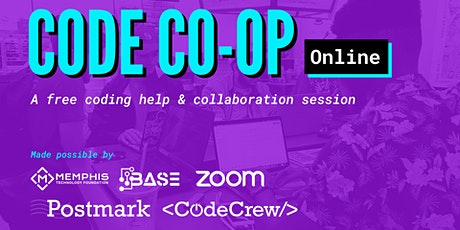 Code Co-op Online - A free help, learning, & networking session tickets