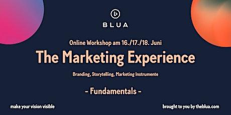 BLUA Online Workshop - The Marketing Experience - Fundamentals tickets