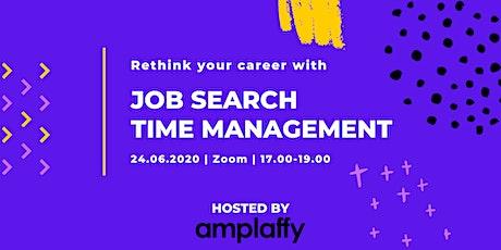 Job Search Time Management - Online Workshop tickets