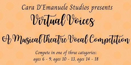 Virtual Voices Musical Theatre Voice Competition July 2020 tickets