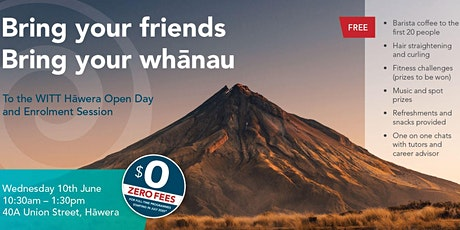 WITT Hāwera Open Day tickets