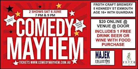 Comedy Mayhem Exmouth tickets