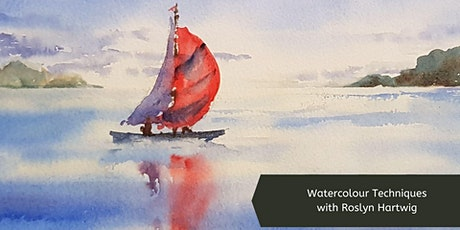 Watercolour Techniques with Roslyn Hartwig (Wed, 8 Wk Course) tickets