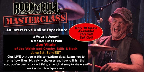 Master Class with Joe Vitale of the Joe Walsh Band - Limited to 20! tickets