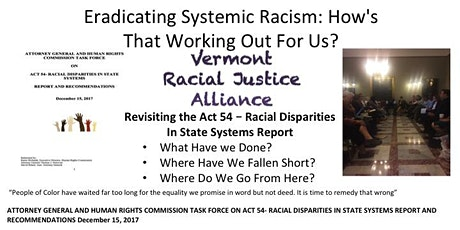 Eradicating Systemic Racism:  How's That Working Out For Us? tickets