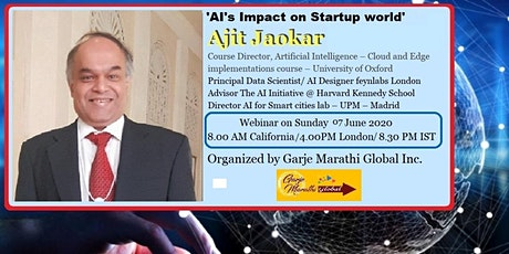 How can startups use Artificial Intelligence?  By Ajit Jaokar tickets