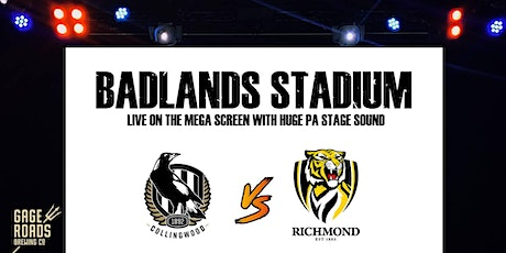 Live AFL at Badlands - Collingwood v Richmond tickets