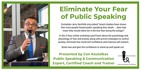 Eliminate Your Fear of Public Speaking tickets