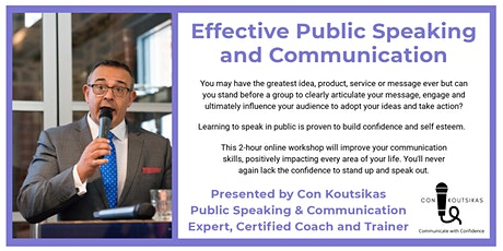 Effective  Public Speaking and Communication tickets