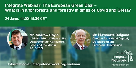 Integrate webinar: Green deal and its implications for forests and forestry tickets