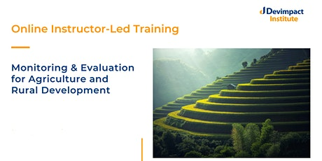 Training on Monitoring and Evaluation for Agriculture and Rural Development tickets