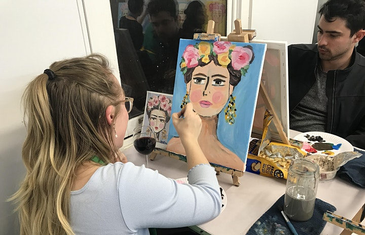 Paint and Sip Class: Frieda Style image