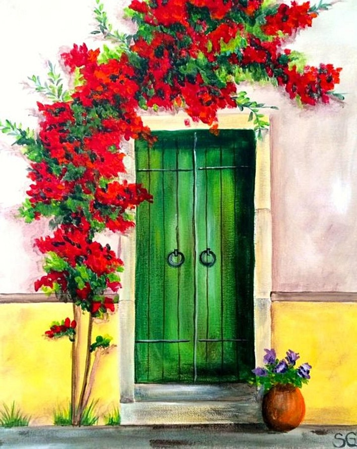 Paint and Sip Class: Green Door image
