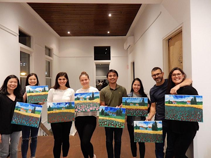 Paint and Sip Class: Poppies à la Van Gogh image