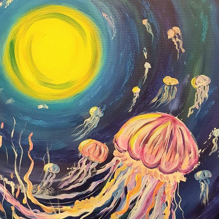 Paint and Sip Class: Jellyfish image