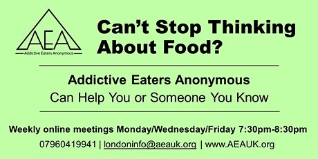 Addictive Eaters Anonymous online meeting- open to all tickets