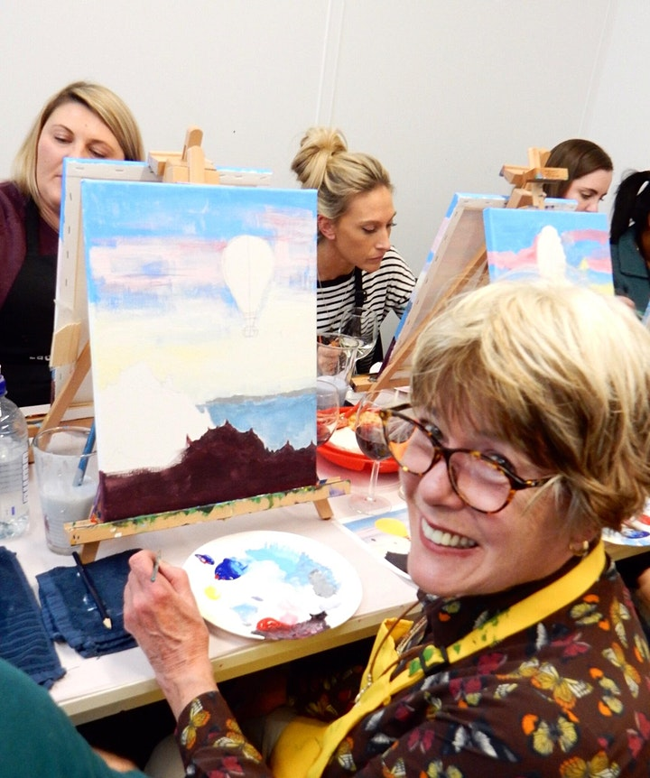 Paint and Sip Class: hot Air Balloon image