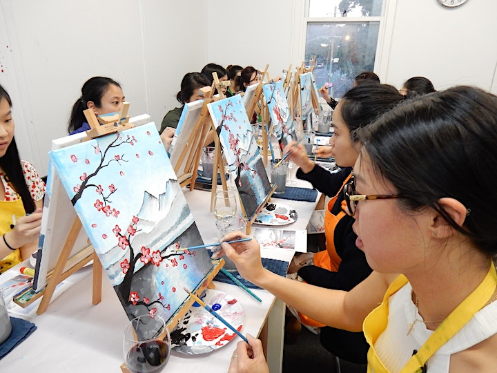 Paint and Sip Class: Cherry Blossoms image