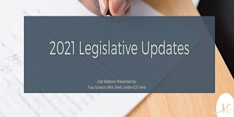 2021 Legislative Updates tickets