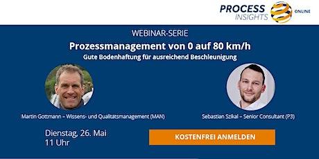 Prozessmanagement von 0 auf 80 km/h: gute Bodenhaftung und Power für ausreichend Beschleunigung (MAN) Tickets