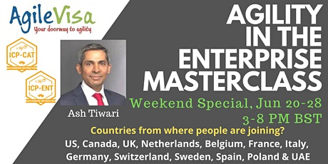 ICAgile Agility in the Enterprise Masterclass (ICP-ENT) tickets