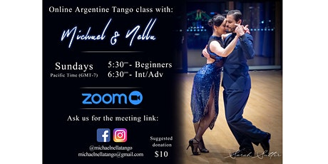 Online Argentine Tango classes with USA Tango champion tickets