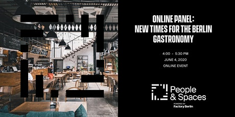 Online Panel: New Times for the Berlin Gastronomy tickets