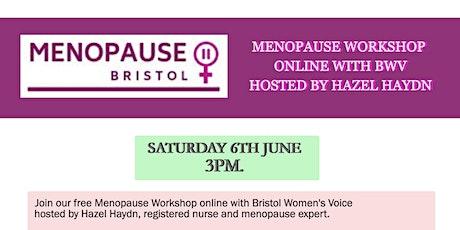 Free online Menopause Workshop with BWV tickets