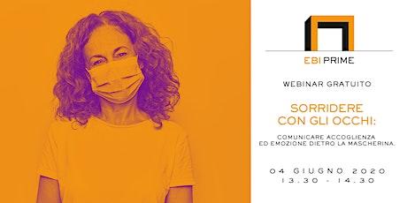 Sorridere con gli occhi: comunicare accoglienza dietro la mascherina biglietti