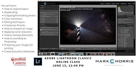 Adobe Lightroom Classic online class tickets