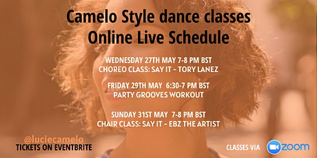Online Live Dance Classes with Lucie Camelo - 27th May - 31th May 2020 tickets