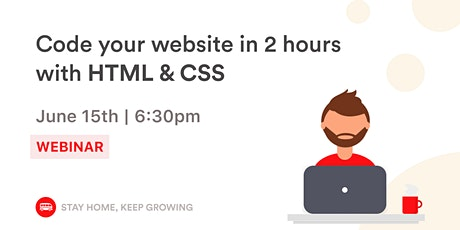 [Webinar]  Code your first  website in 2 hours with HTML & CSS tickets