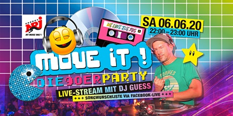 "Move iT! - die 90er Party ""Livestream aus dem Kesselhaus feat. DJ GUESS"" Tickets"