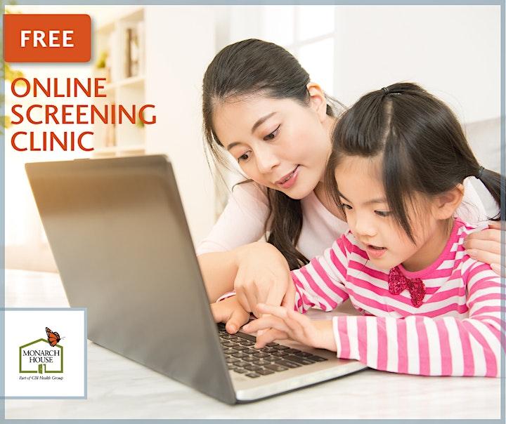 Free Online Developmental Screening Clinic image