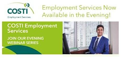 Evening Employment Webinar Series tickets