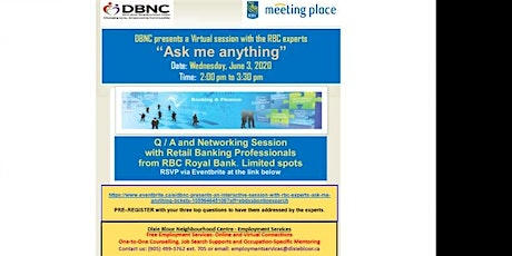 "DBNC presents a virtual session with RBC Experts - ""Ask Me Anything"" tickets"