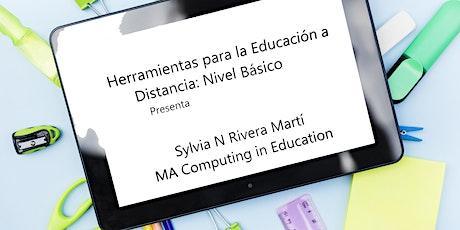 Herramientas para Educación a Distancia: Nivel Básico entradas