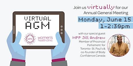 Women's Health Clinic - Virtual Annual General Meeting tickets