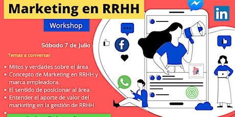 Workshop de Marketing en RRHH a distancia entradas