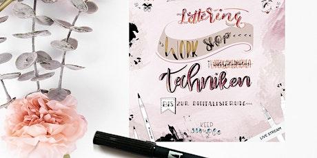 """Handlettering für Fortgeschrittene """"Blending Workshop"""" Wolkenklar Creativ Tickets"""