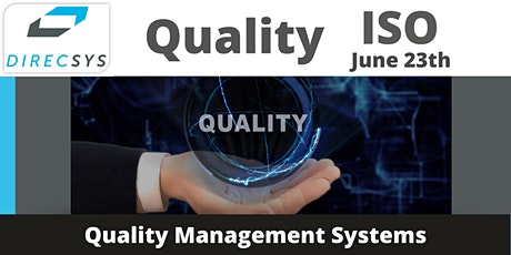 ISO Quality Management Systems -12 Virtual Training Sessions billets