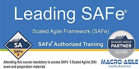 Leading SAFe®  5.0 (SA) (Scaled Agile Framework) Training- Online tickets