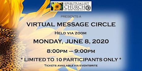 June 8, 2020  SCNYC Virtual Message Circle tickets