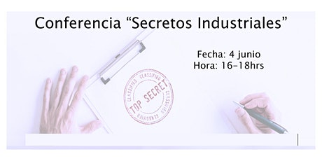 Conferencia Secretos Industriales boletos