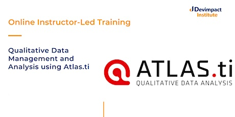 Training on Qualitative Data Management and Analysis using Atlas.ti tickets
