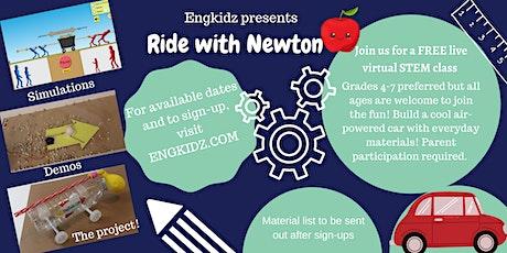 Virtual STEM Workshop – Ride With Newton tickets