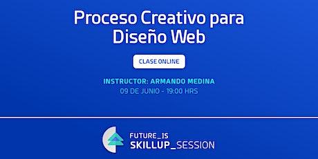 Proceso creativo para diseño web. entradas
