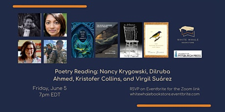 Virtual Poetry Reading: Krygowski, Ahmed, Collins, Suárez tickets